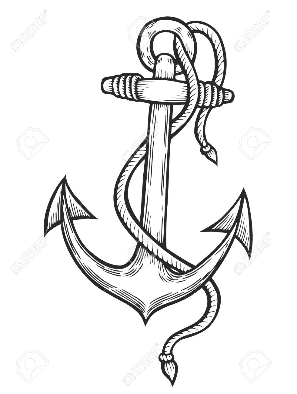 980x1300 Drawn Rope Anchor Rope