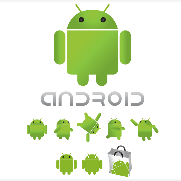 600x600 Free Android Logo Vector 123freevectors