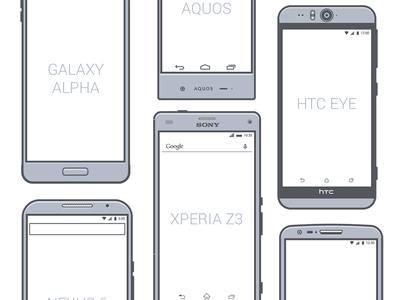 400x300 Android Phone Vector Illustrations Free Psd,vector,icons
