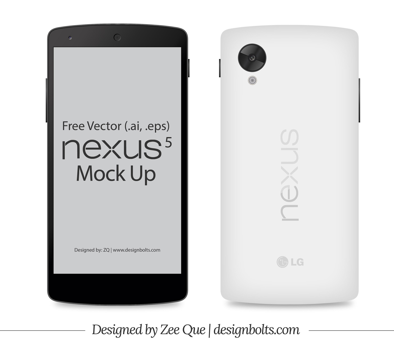 3000x2747 Free Vector Google Nexus 5 Mockup In Ai Amp Eps Format