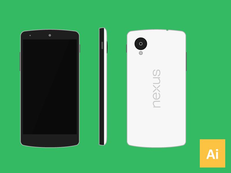 800x600 Nexus 5 Vector (.ai) By Nick Chamberlin