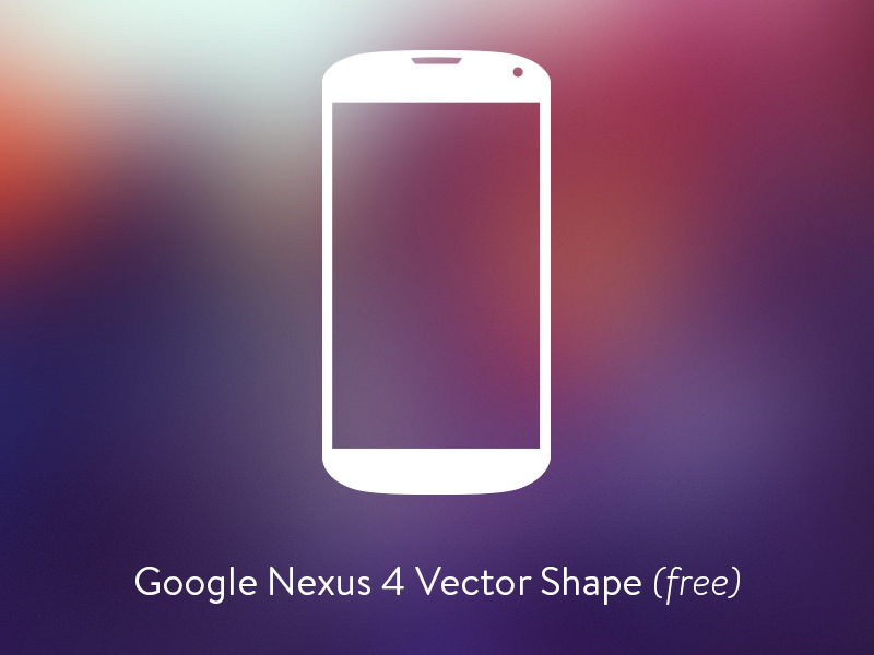 800x600 Nexus 5 Vector Shape Svg Freebie