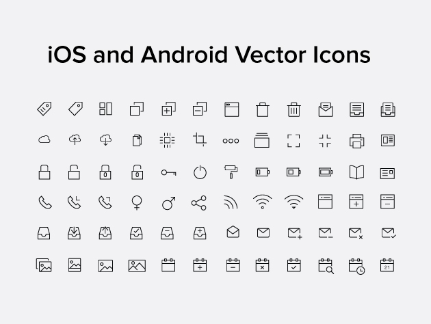 630x474 Ios And Android Vector Icons Frebers