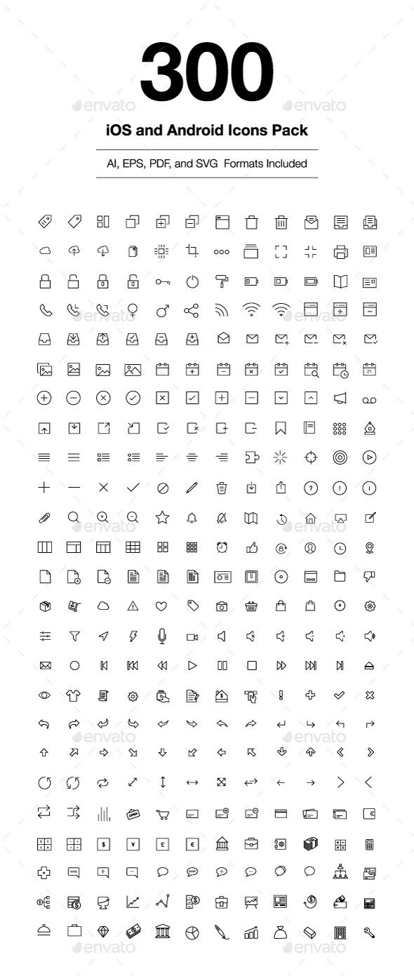 590x1391 300 Ios And Android Vector Icons By Creativestall Graphicriver
