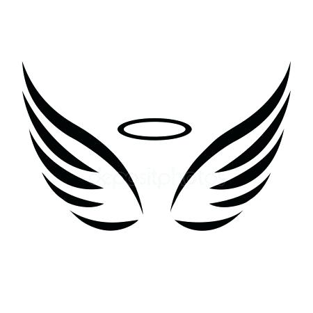 450x450 Angel Wings Halo Vector. Angel Wings Halo Costume Halloween For