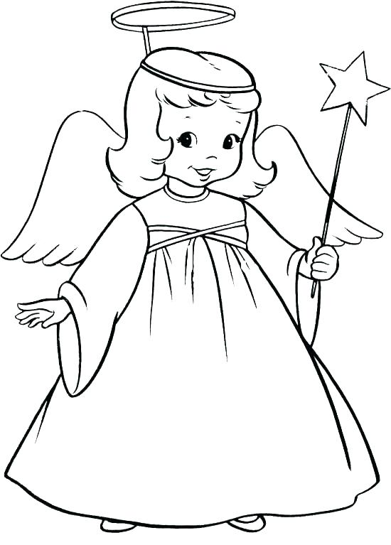 550x767 Angel Visits Joseph Coloring