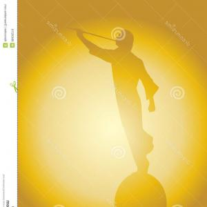 300x300 Stock Photo The Latter Day Saints Angel Moroni Blowing A Horn On A