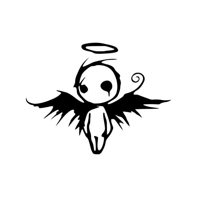 690x690 Gothic Dark Fallen Angel Of Death Graphics By Vectordesign On Zibbet
