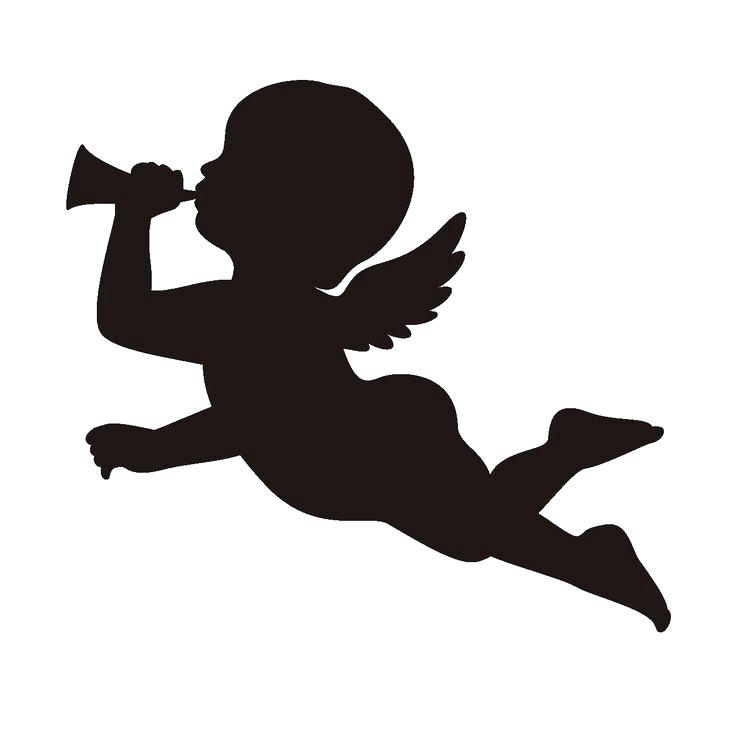 736x736 Angel Silhouette Clip Art Angel Silhouette Fairy Wing Heaven Icon