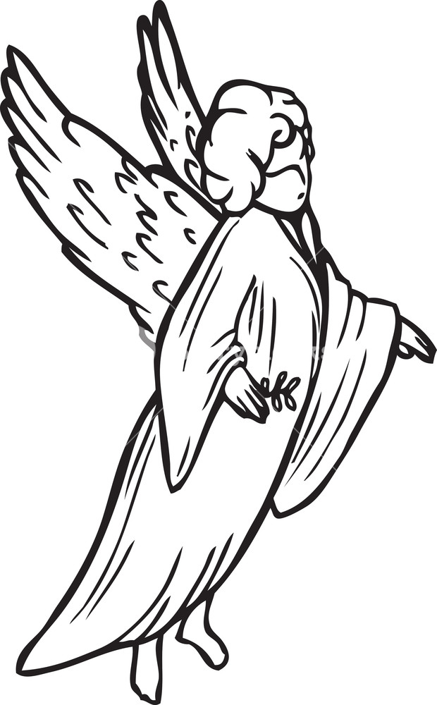 620x1000 Angel Vector Element Royalty Free Stock Image