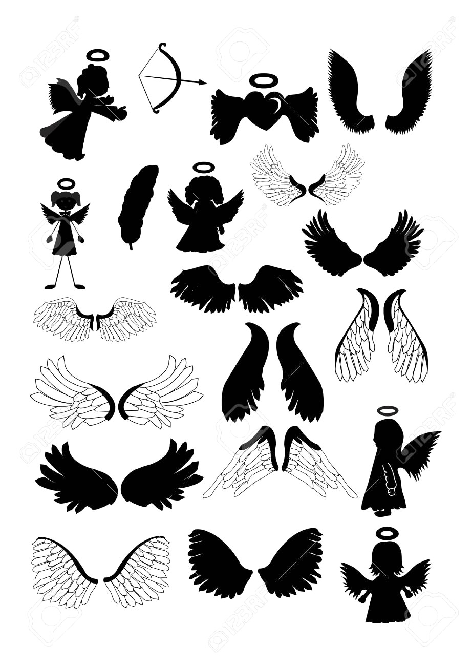 922x1300 Angel Wing Clipart