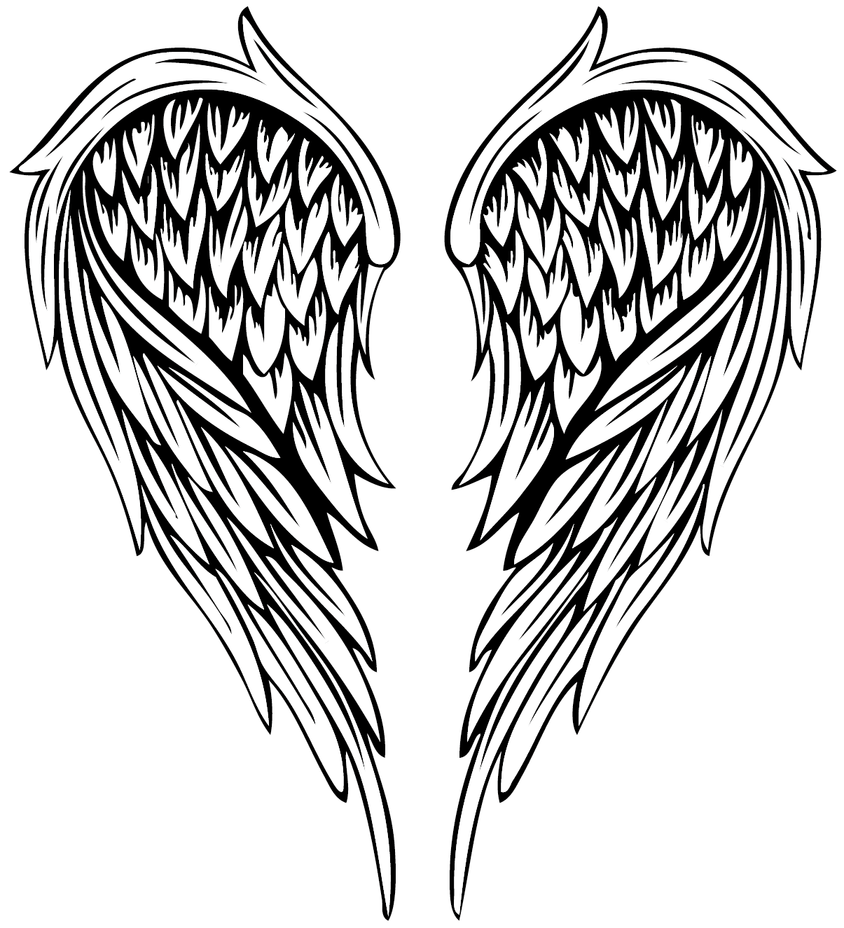 1205x1325 Collection Of Free Angel Vector Feather Wing. Download On Ubisafe