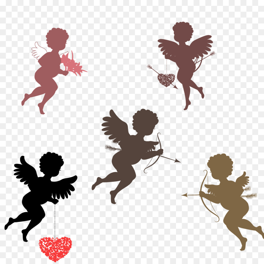 900x900 Download Psyche Revived By Cupids Kiss Silhouette Illustrat
