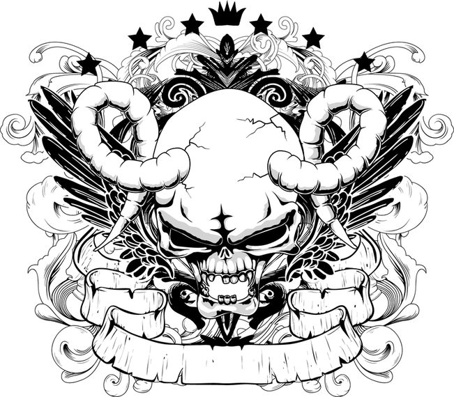 651x570 Handdrawn Line Draft Devil And The Angel Vector