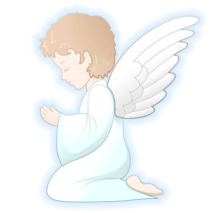 700x700 Prima Comunione Angelo First Communion Angel Vector Wall Mural