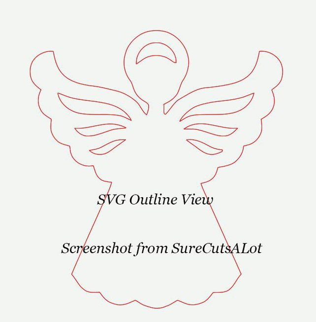 642x655 Angel Svg File Christmas Angel Svg Png Eps Dxf Files Etsy