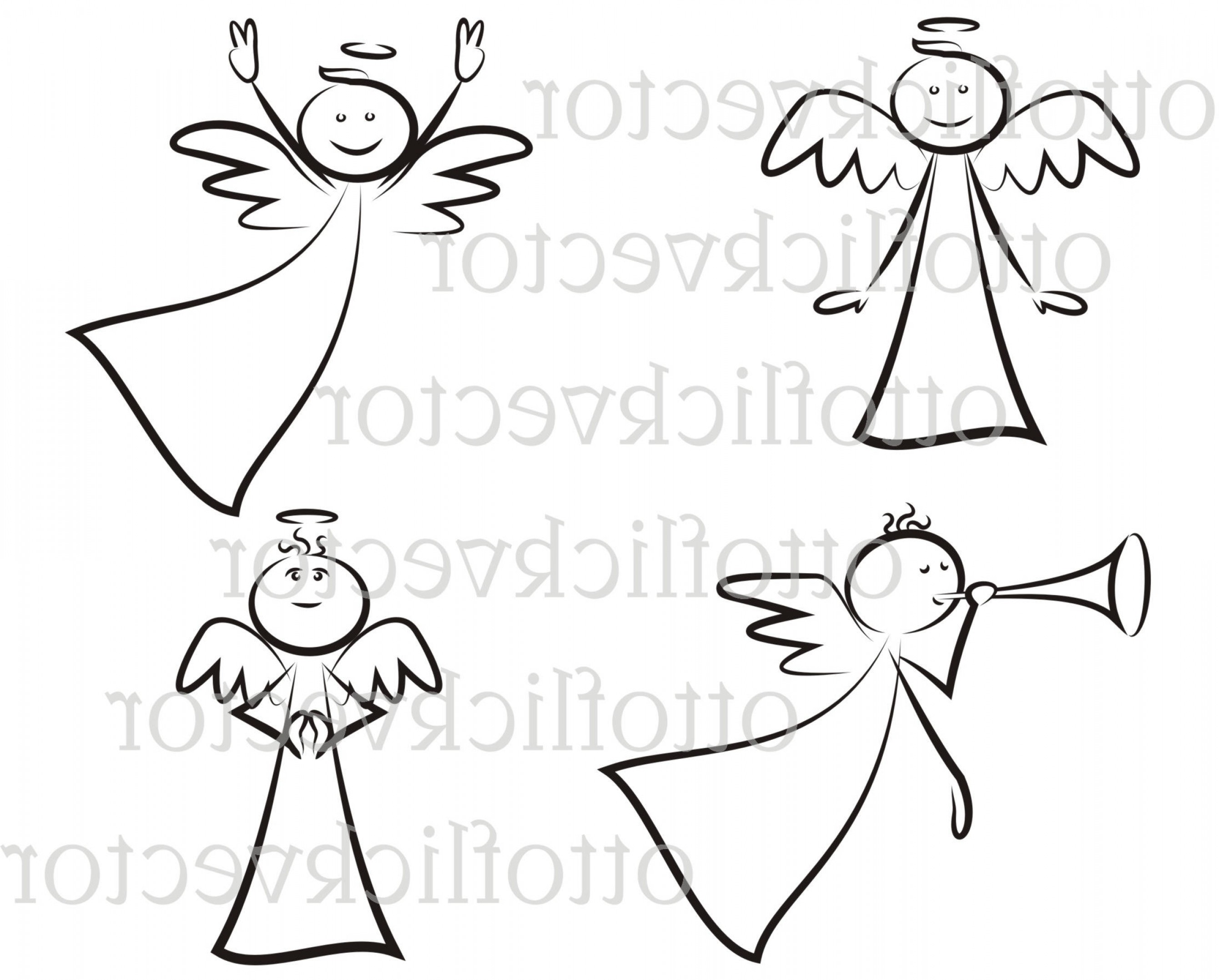 2680x2154 Angel Vector Clipart Stick Mam Eps Ai Arenawp