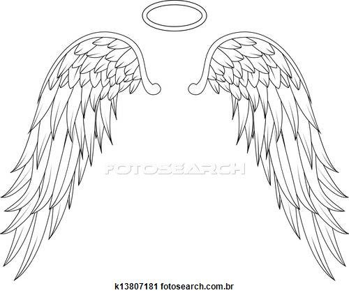 500x423 Angel Clipart Angel Wing