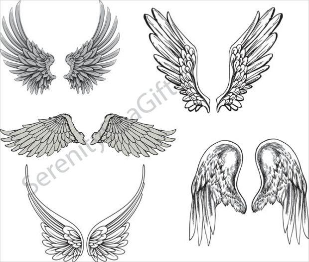620x525 Angel Vector Images Vector Art Of Angel Wings Logo