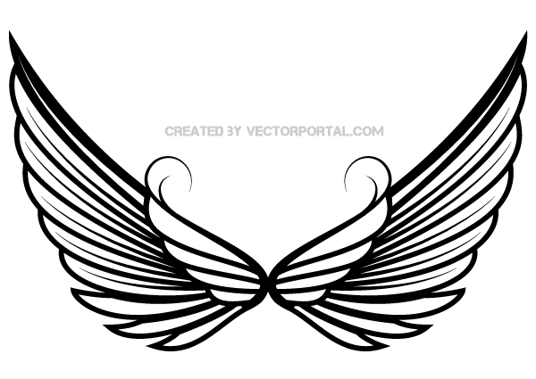 600x425 Angel Wings Free Angel Wing Clip Art Free Vector For Free Download