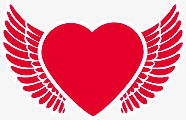 650x421 Heart Angel Wings, Heart Vector, Angel Vector, Wings Vector Png