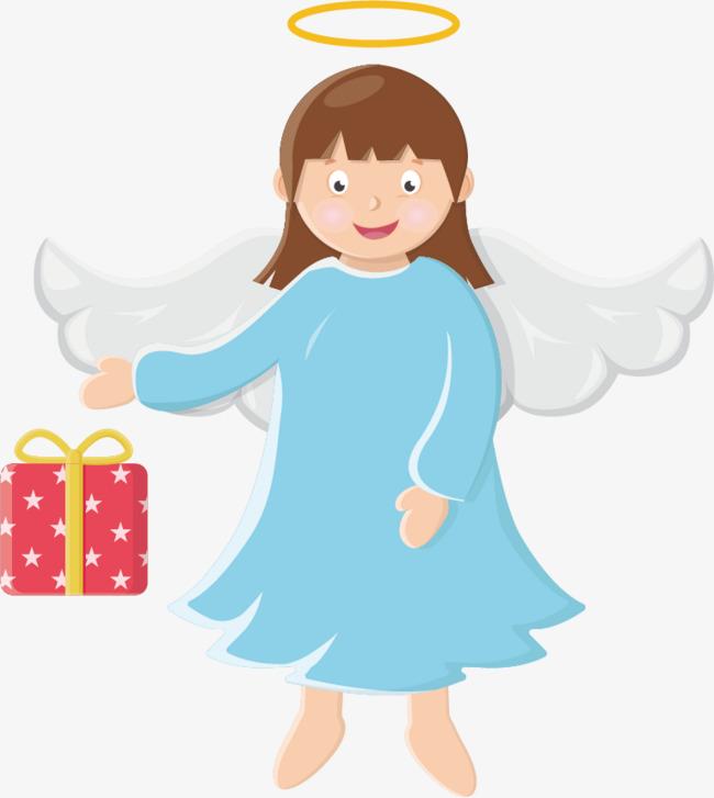 650x727 Enviar Regalos Para Navidad Angelito La Angel Vestido Azul