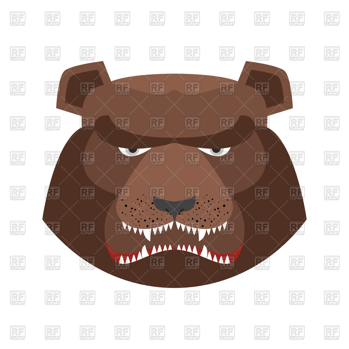 1200x1200 Angry Bear Head Vector Image Vector Artwork Of Plants And