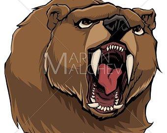 340x270 Angry Bear Vector Etsy