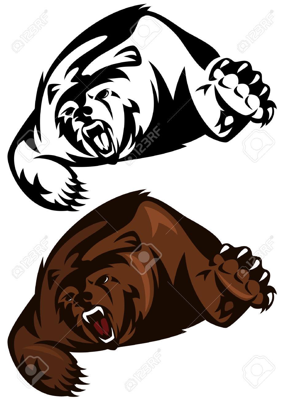 918x1300 Beast Clipart Angry Bear
