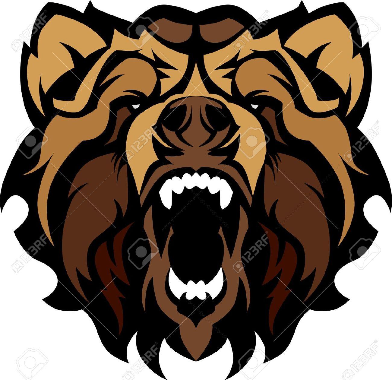 1300x1260 Beast Clipart Angry Bear
