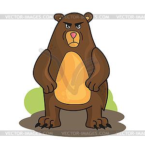 300x299 Cartoon Angry Bear