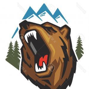 300x300 Angry Bear Face Head Logo Black Orangiausa