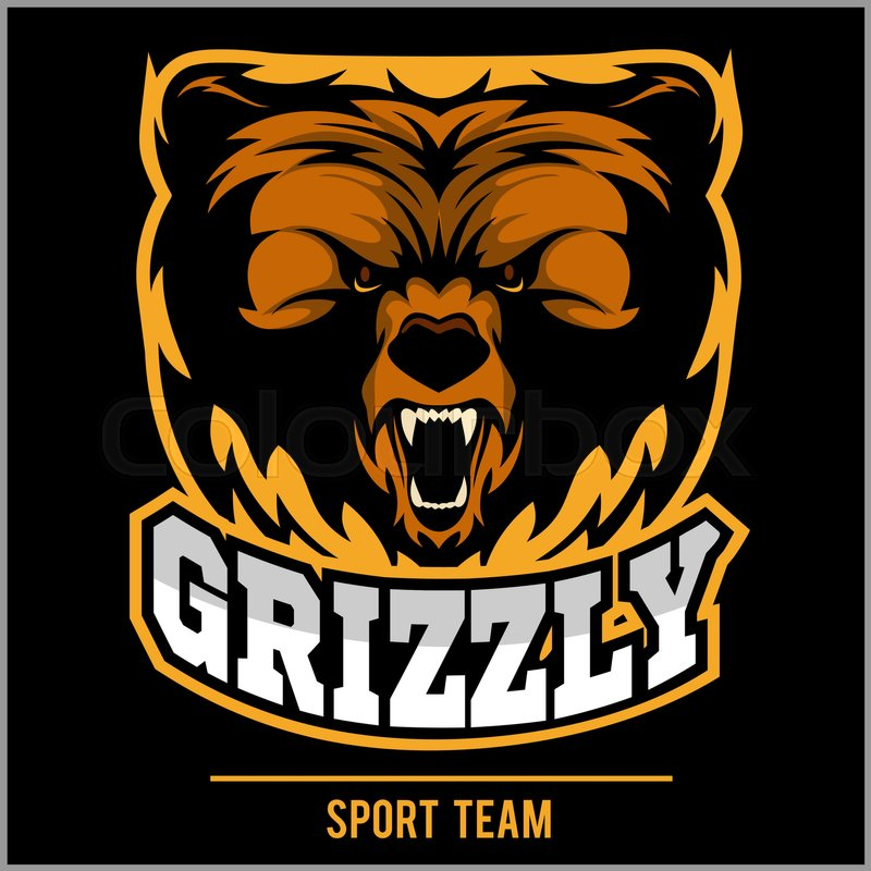 800x800 Grizzly Mascot, Team Logo Design. Angry Bear.grizzly Bear Logo For