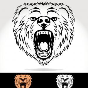300x300 Royalty Free Vector Of An Angry Mad Polar Bear Head Logo By Vector