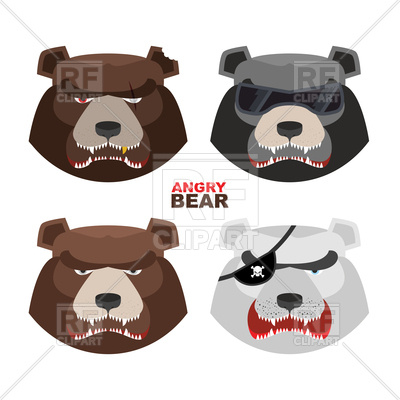 400x400 Set Angry Bears Vector Image Vector Artwork Of Plants And