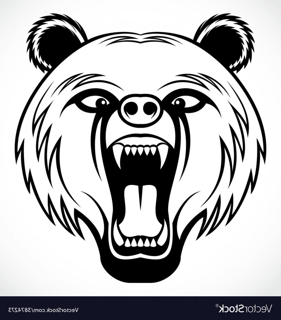 1138x1296 Angry Bear Head Tribal Vector Shopatcloth