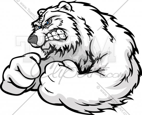 590x481 Angry Bear Vector