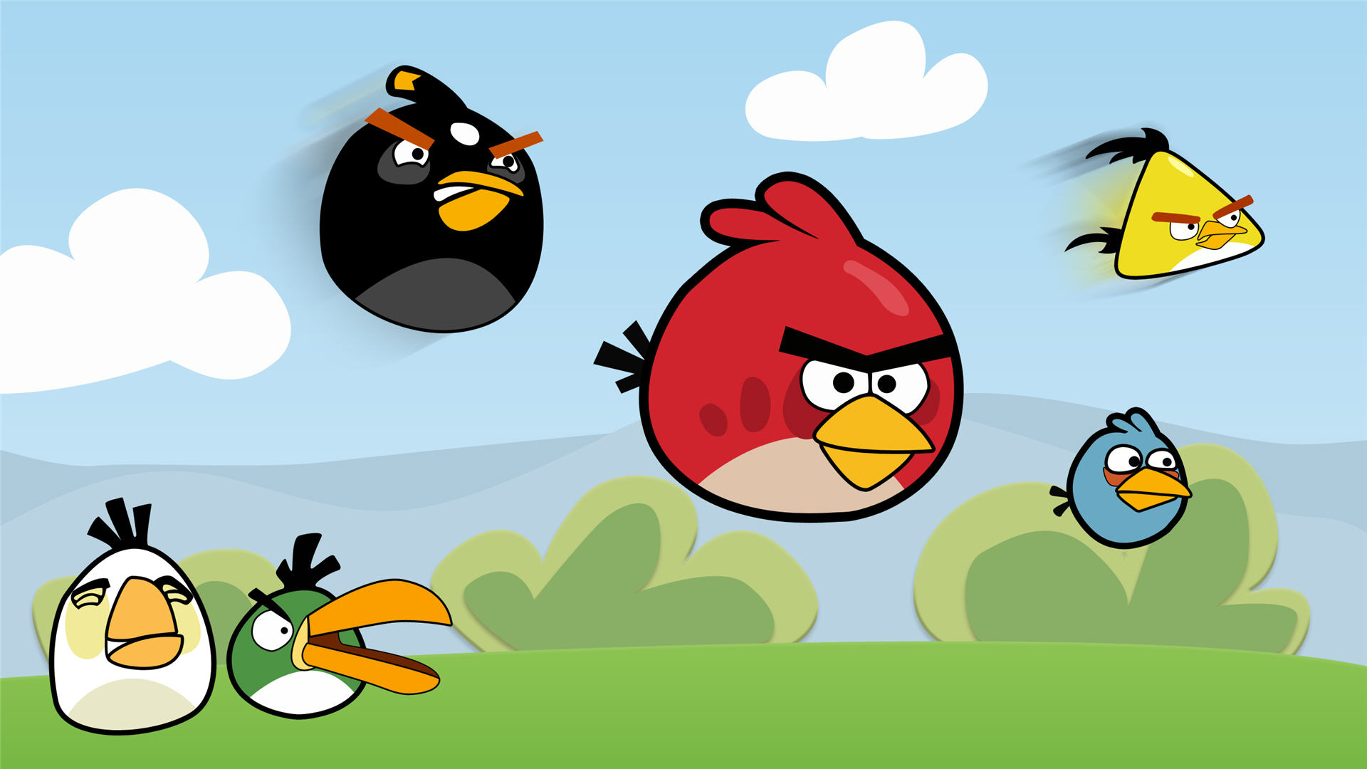 1920x1080 Angry Birds Wallpaper