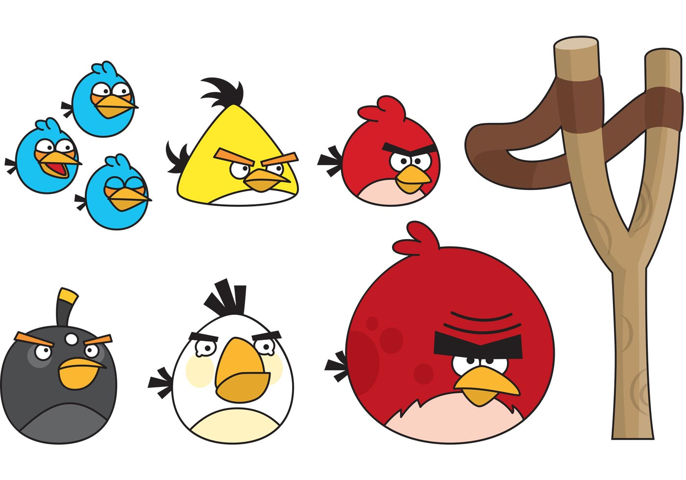 1400x980 Angry Birds With Slingshot