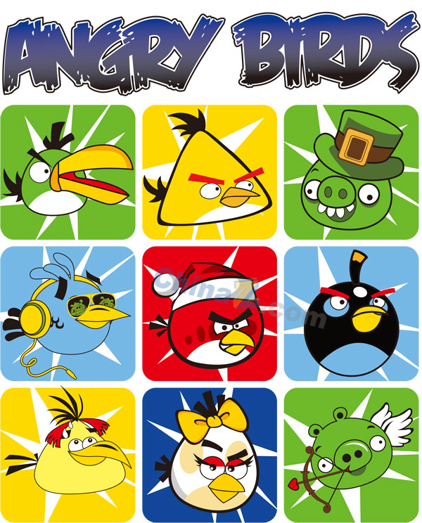 600x744 Angry Birds Vector Material Free Download