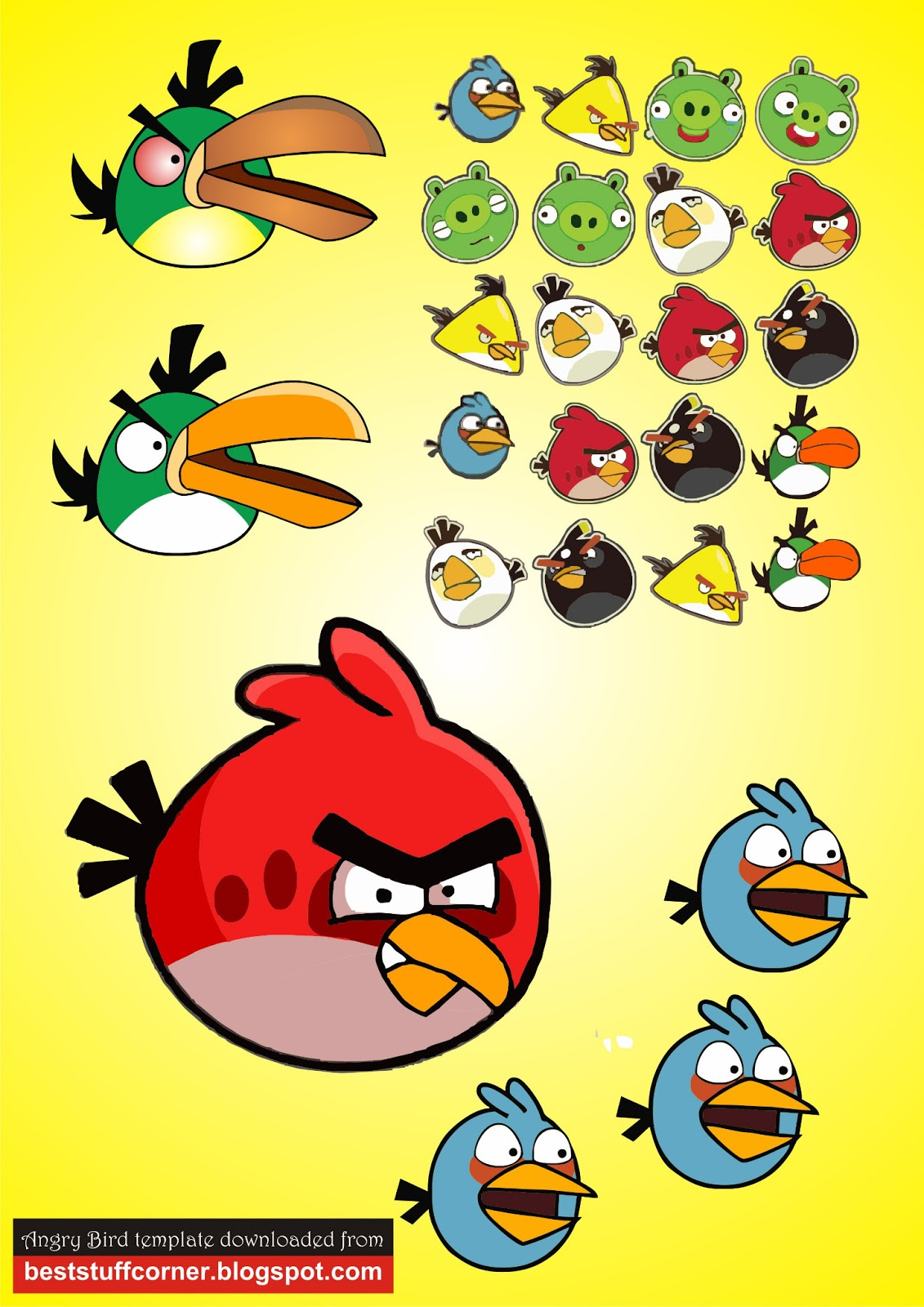 1131x1600 Best Stuff Corner Free Angry Bird Vector Image Template