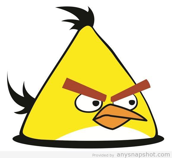 579x532 Yellow Angry Bird Vector Vector Graphic