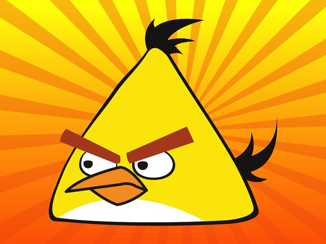 646x484 Yellow Angry Bird Gaming Vector Vector Free Download