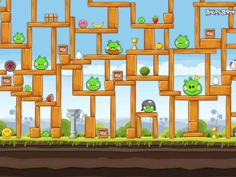 480x360 Angry Birds Vector Wallpapers