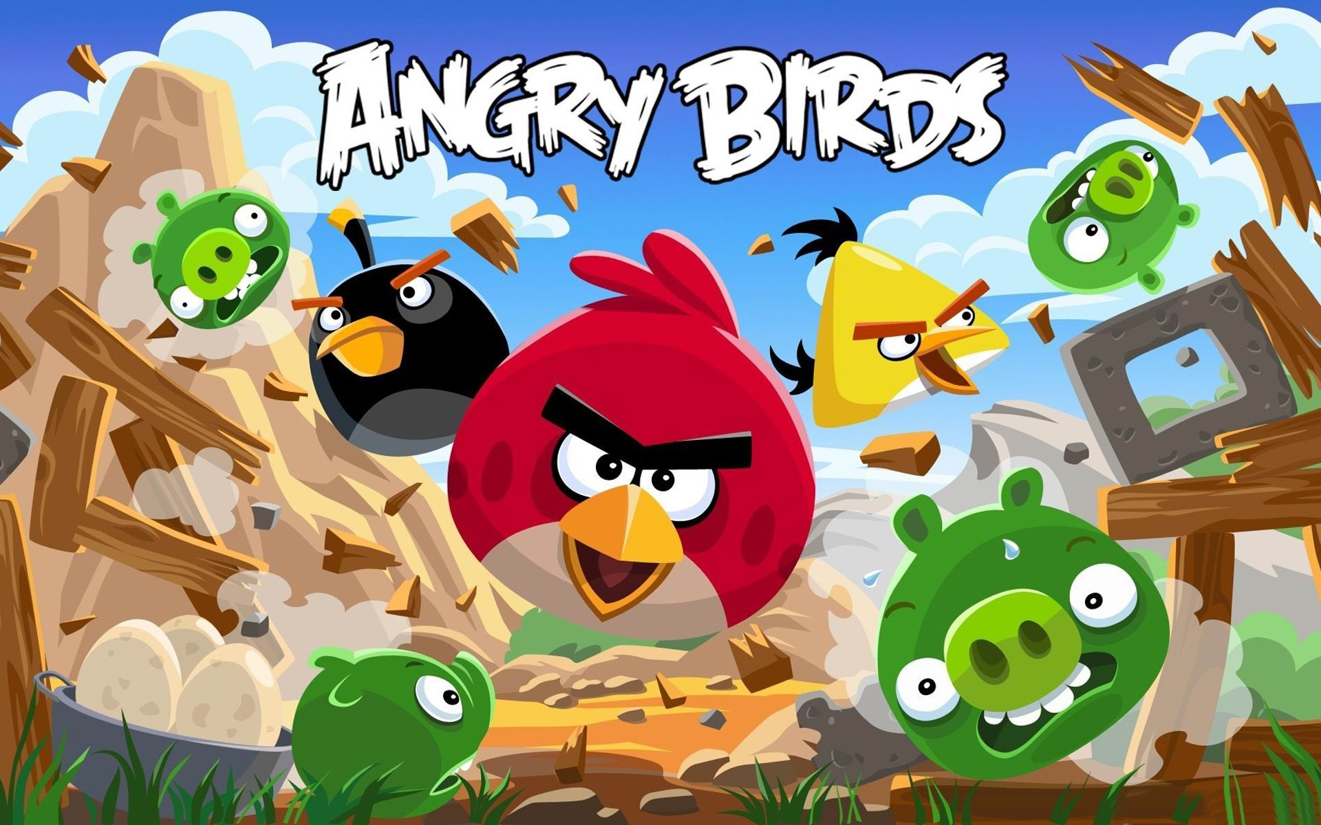 1920x1200 Angry Bird Hd Game Wallpaper Preview