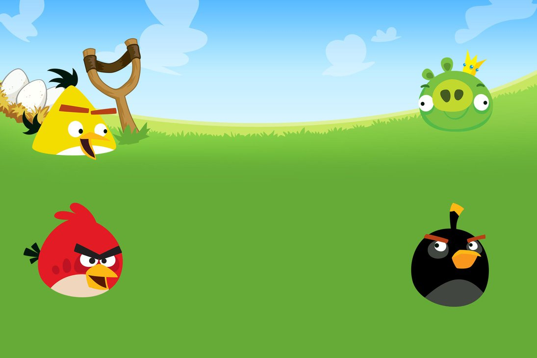 1095x730 Angry Birds Background By Nikitabirds