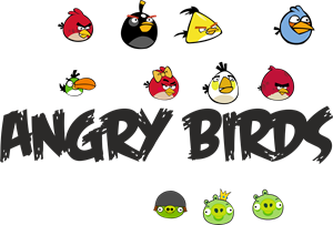 300x203 Angry Birds Logo Vector (.cdr) Free Download