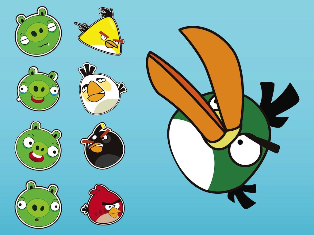 1024x768 Angry Birds Vectors Vector Art Amp Graphics
