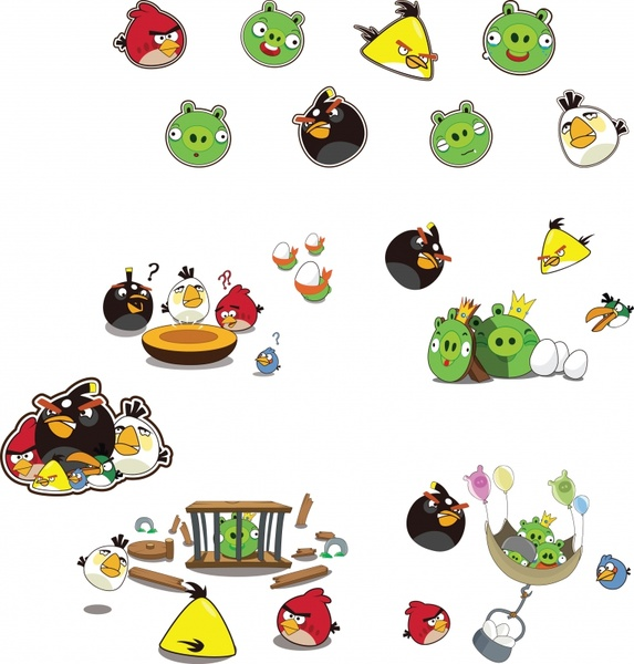 573x600 Angry Birds Vector Free Vector In Adobe Illustrator Ai ( .ai