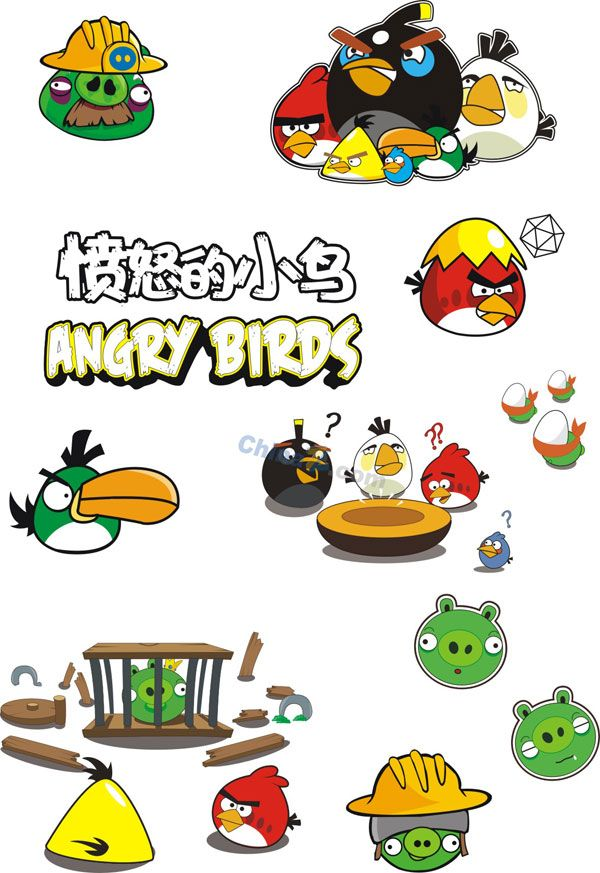 600x873 Angry Birds Vector Material Download Free Vectors